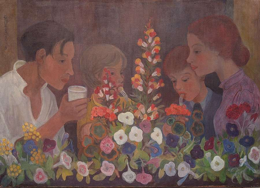 pissarro - family supper