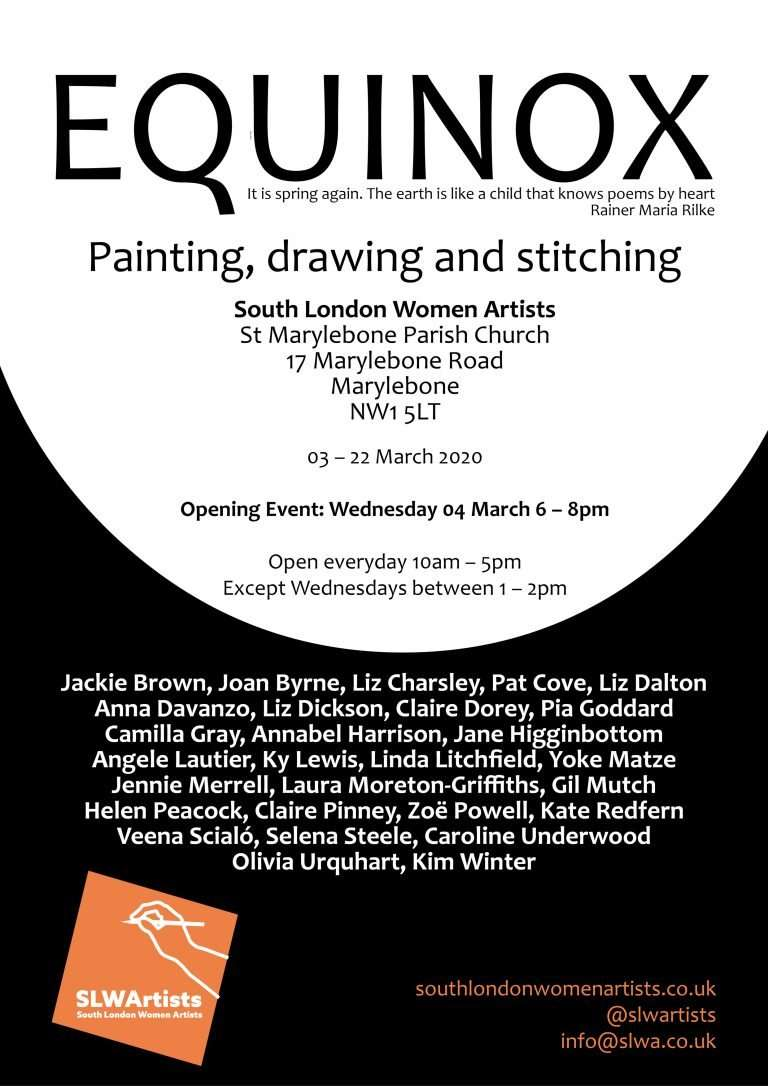 equinox - painting, drawing and stitching