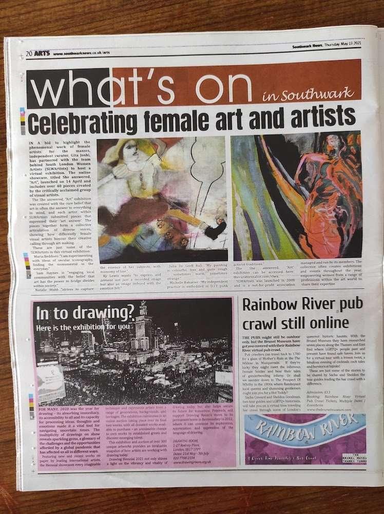 she answered art in southwark newspaper